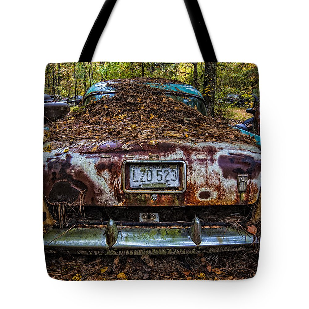 Appalachia Tote Bag featuring the photograph Old Dodge by Debra and Dave Vanderlaan