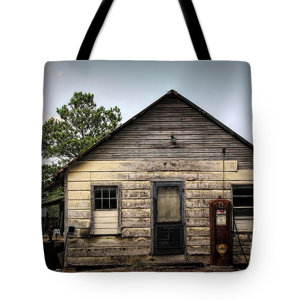Filling Station Tote Bag featuring the photograph Old Filling Station by Paulette Thomas