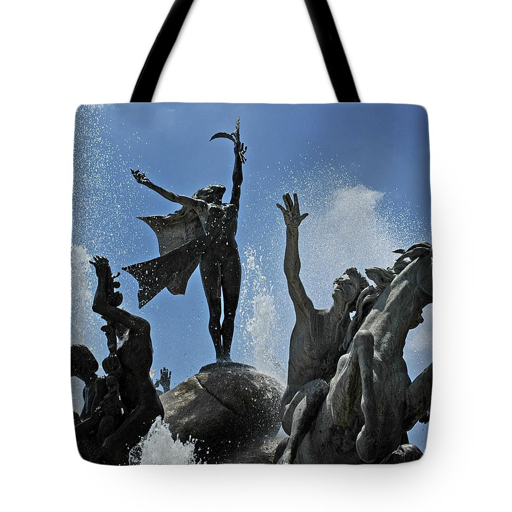 Statue Tote Bag featuring the photograph Old San Juan Puerto Rico by Tito Santiago