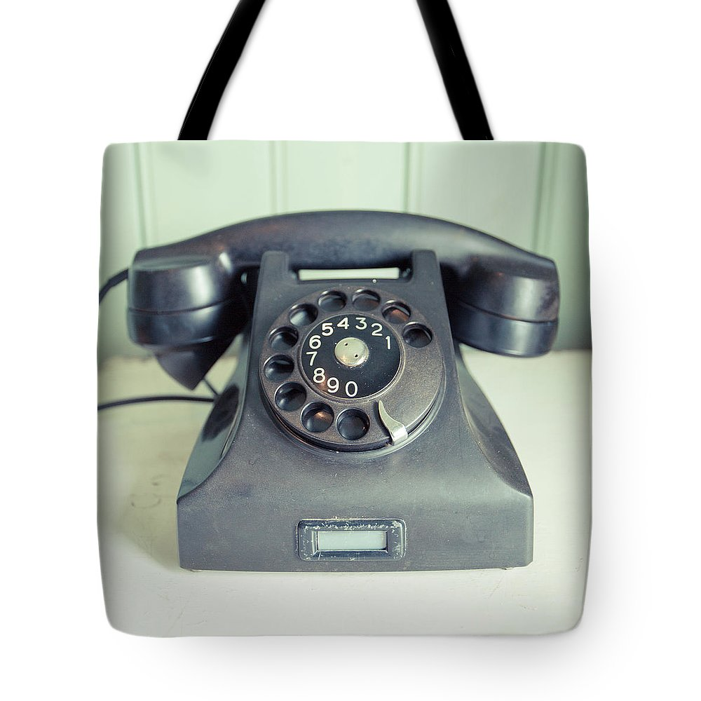 Home Tote Bag featuring the photograph Old Telephone Square by Edward Fielding
