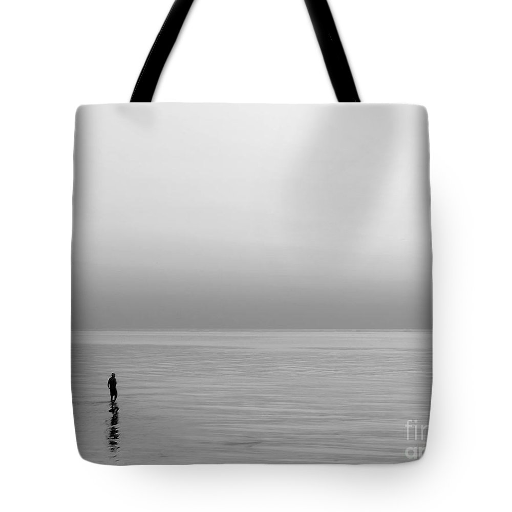 Lake Tote Bag featuring the photograph One Man by Dana DiPasquale