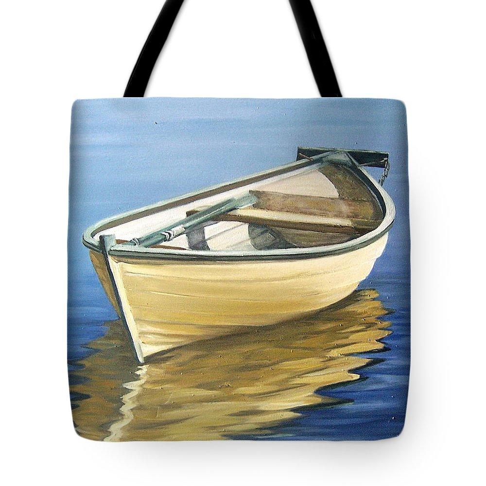 Still Life Tote Bag featuring the painting Calm by Natalia Tejera