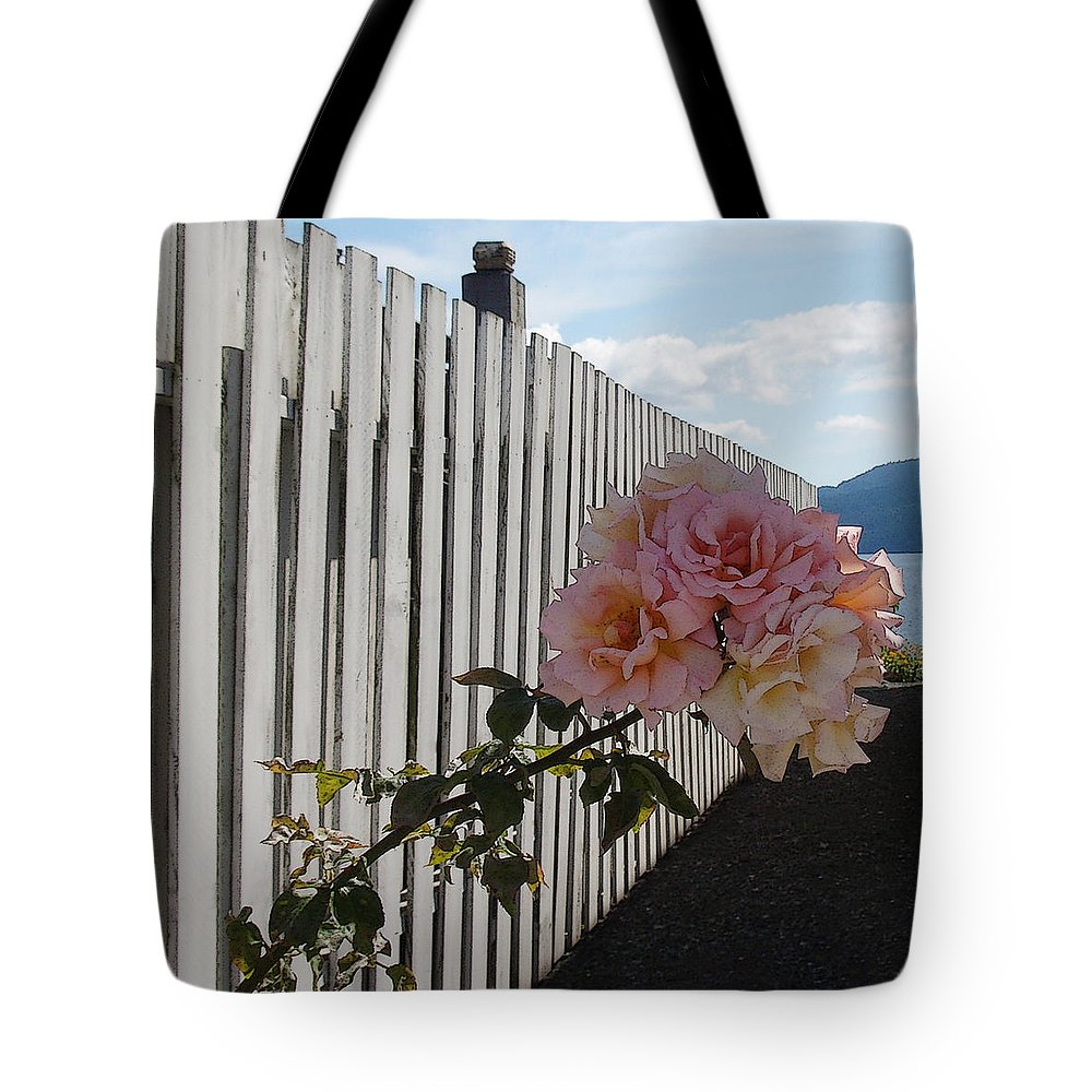 Rose Tote Bag featuring the photograph Orcas Island Rose by Tim Nyberg