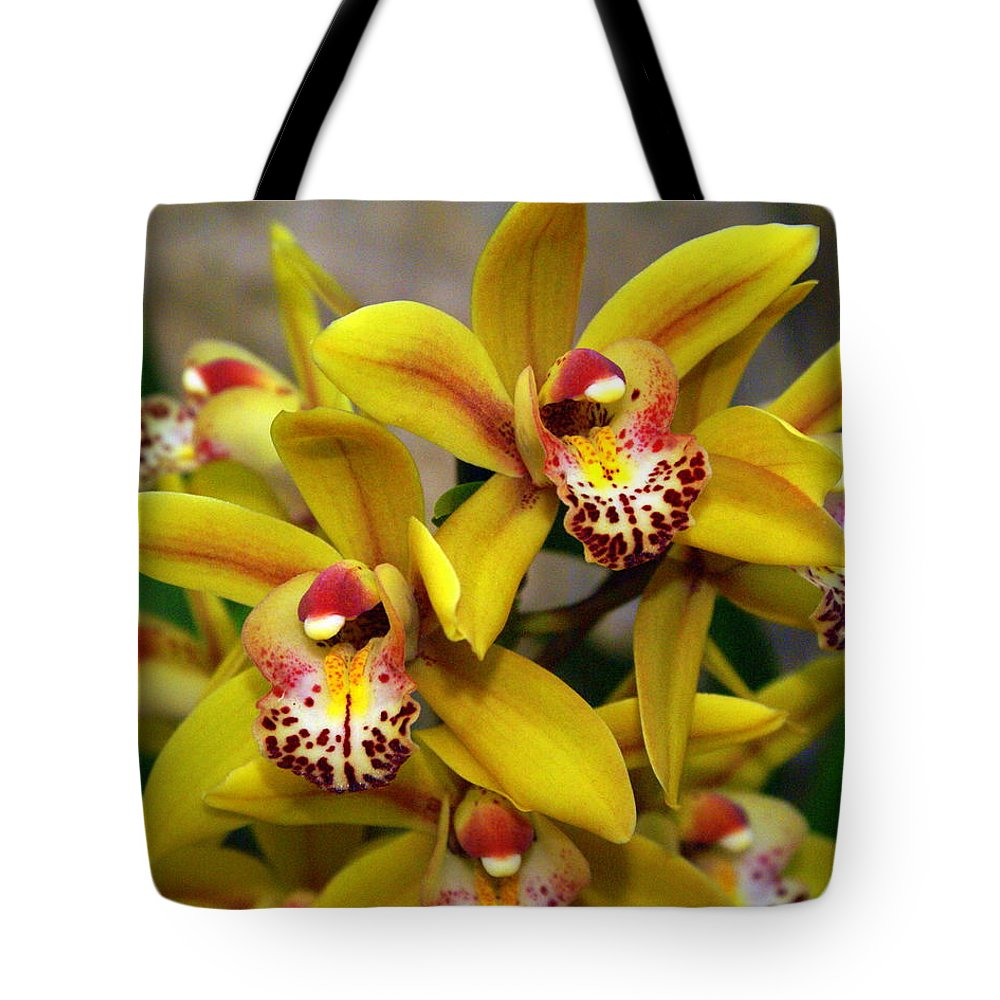 Flower Tote Bag featuring the photograph Orchid 9 by Marty Koch