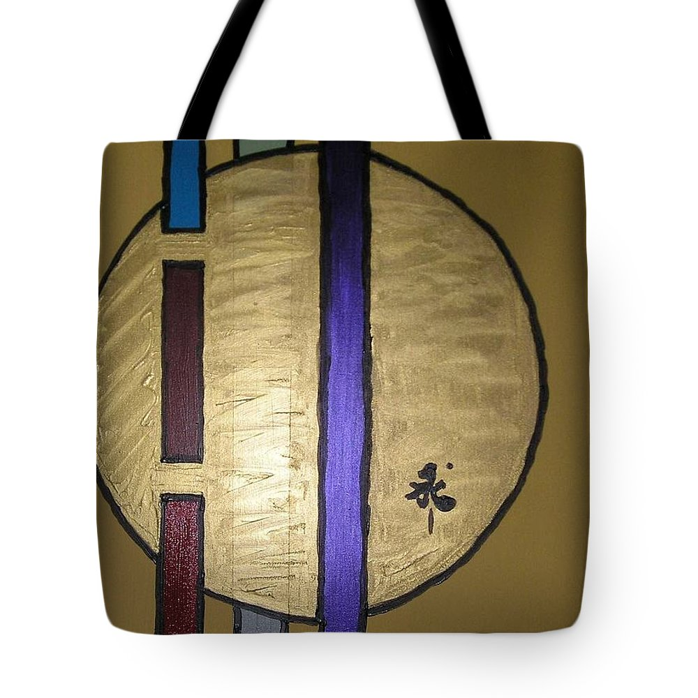 Red Tote Bag featuring the painting Oro by Maria Bonnier-Perez
