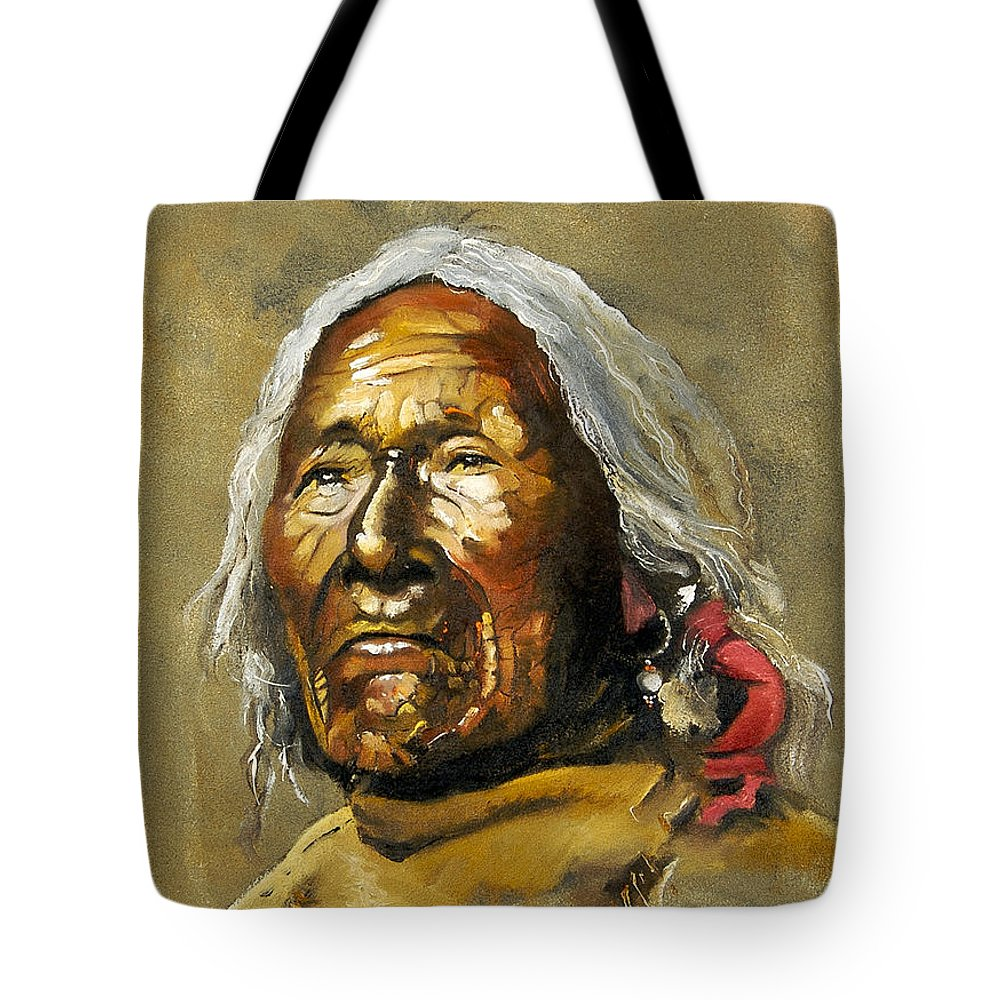 Southwest Art Tote Bag featuring the painting Painted Sands Of Time by J W Baker