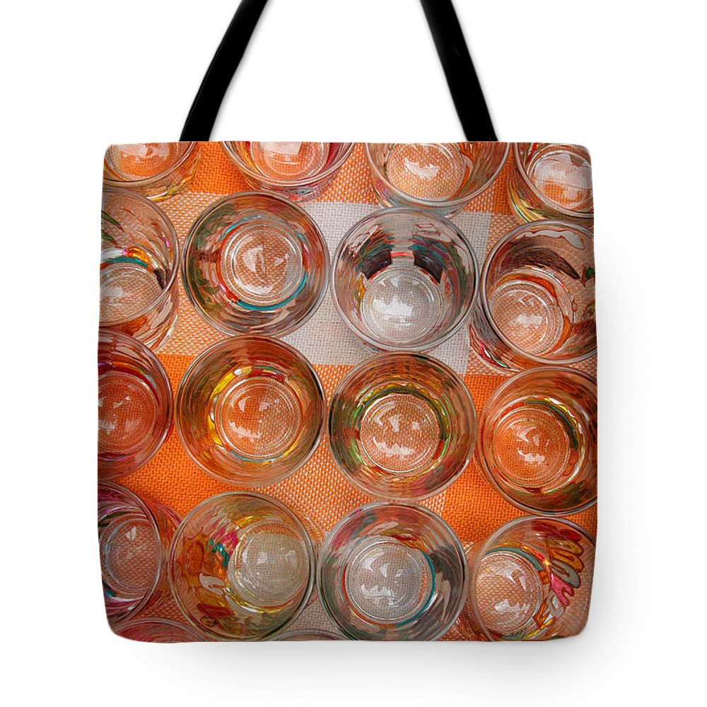 Shot Glass Tote Bag featuring the photograph Painted Shot Glasses by Robert Hamm