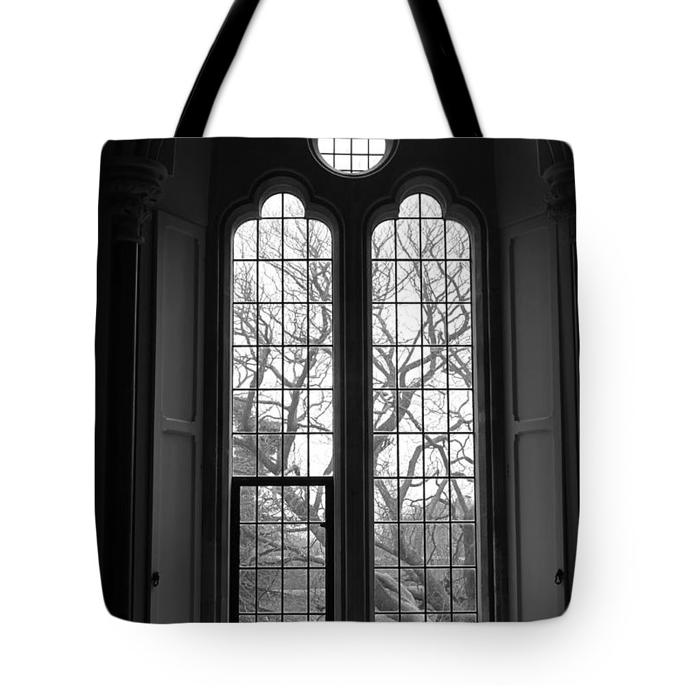 Bishop Tote Bag featuring the photograph Palace Window by Lauri Novak