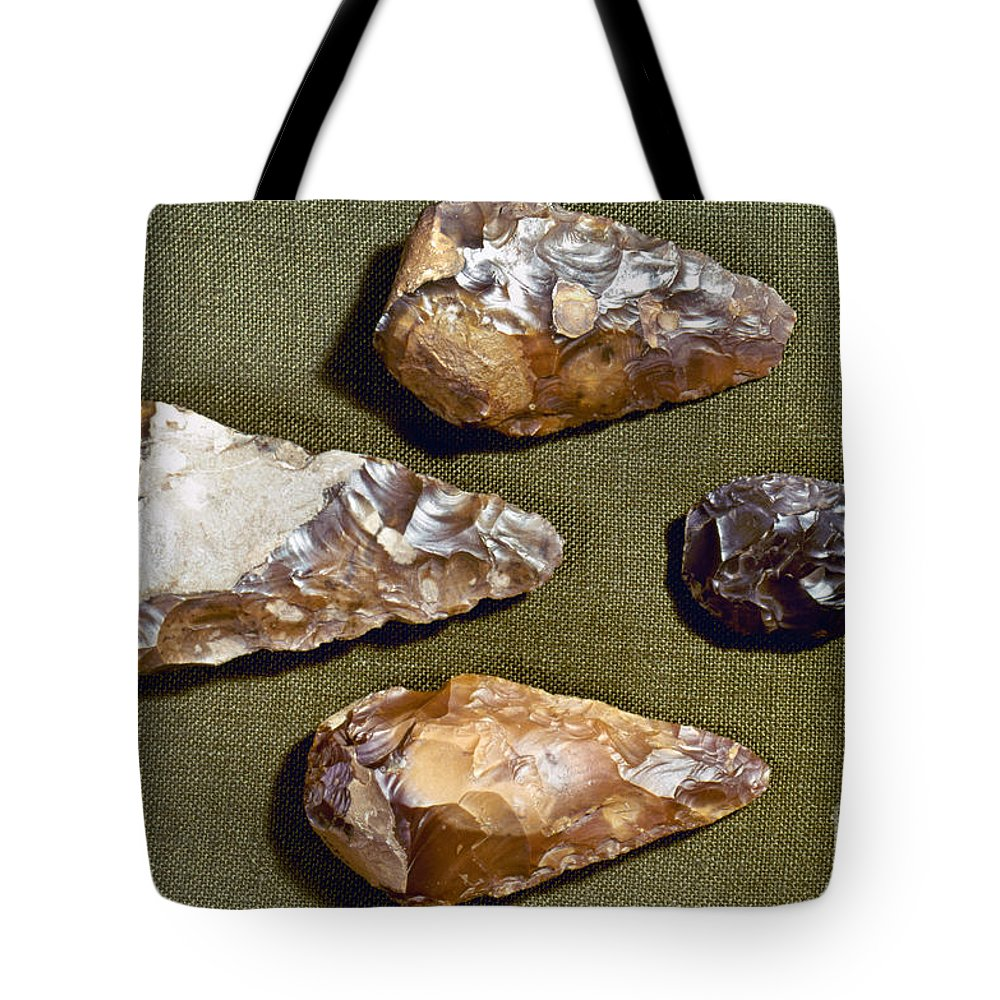 200000 Tote Bag featuring the photograph Paleolithic Tools by Granger