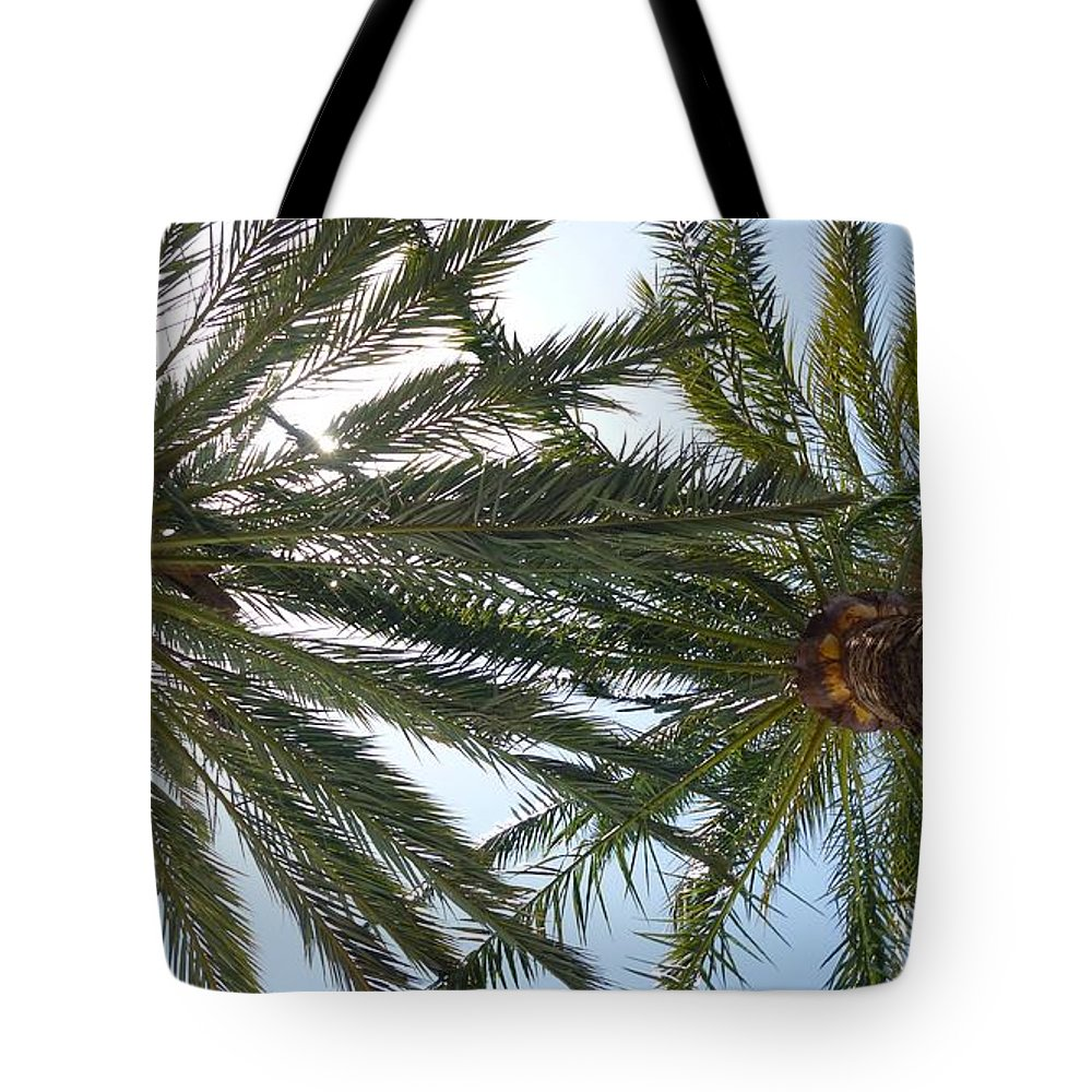 Trees Tote Bag featuring the photograph Palm Trees by FL collection