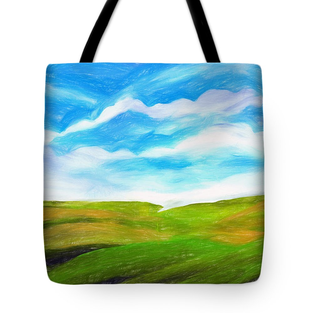 Landscape Tote Bag featuring the painting Palouse by Tonya Doughty
