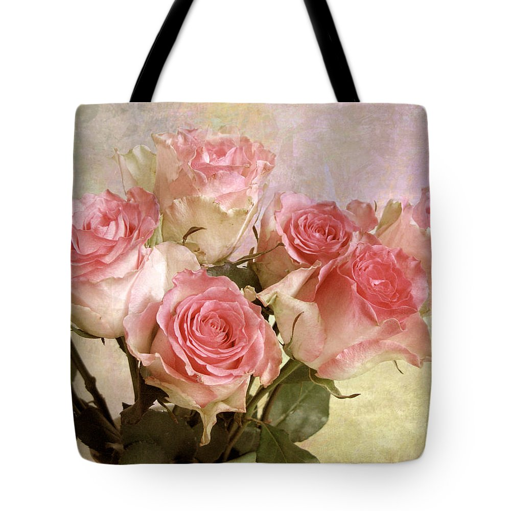 Rose Tote Bag featuring the photograph Pastel Bouquet by Jessica Jenney