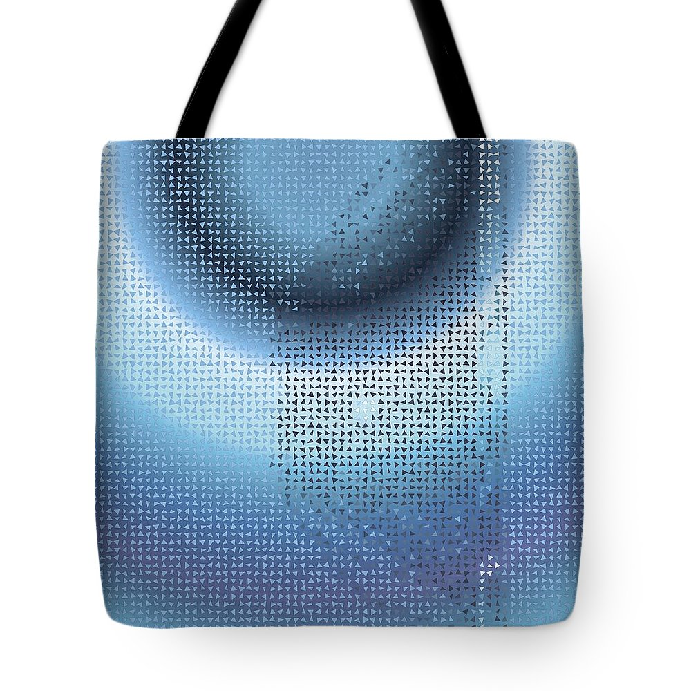 Pattern 80 Tote Bag featuring the digital art Pattern 80 by Marko Sabotin