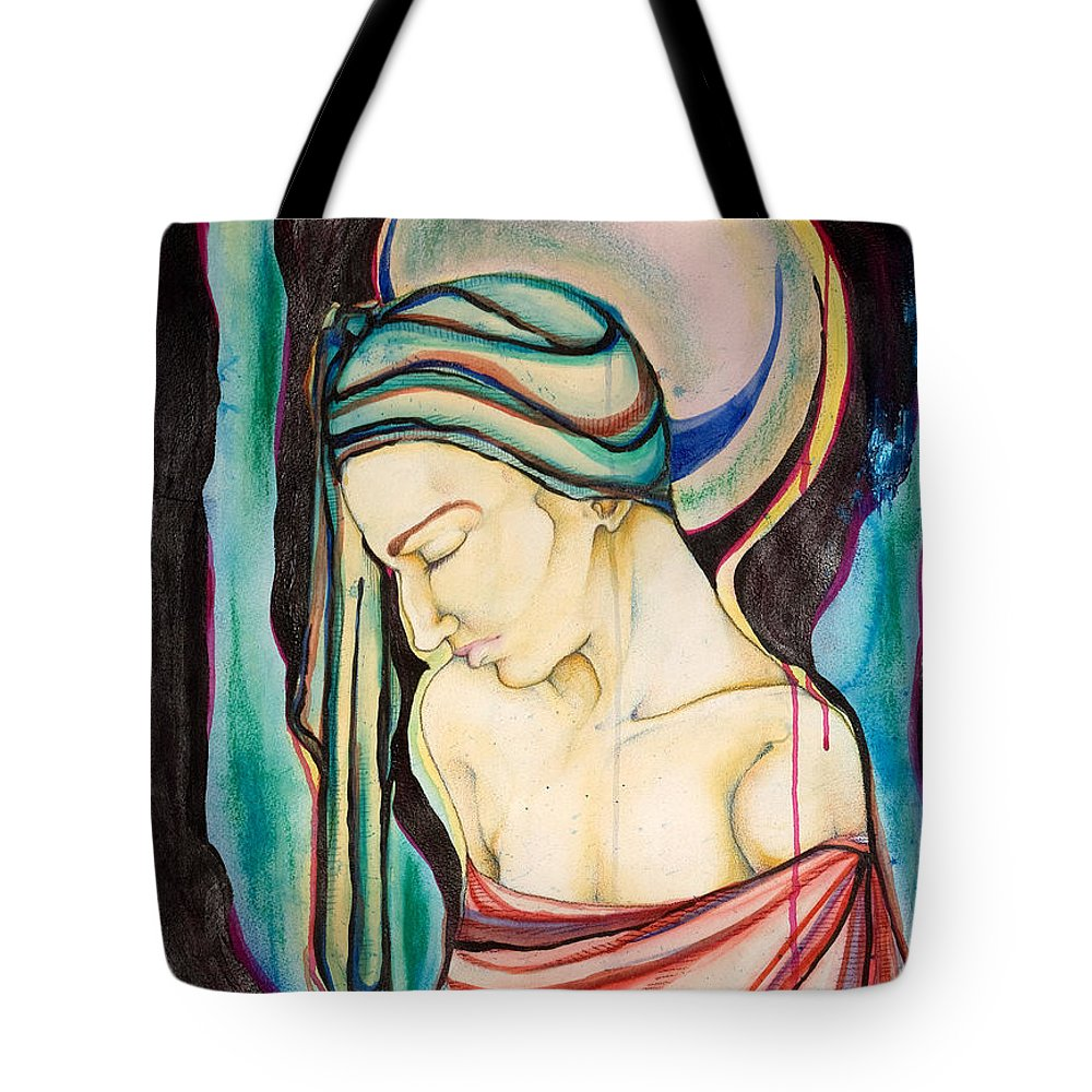 Peace Tote Bag featuring the painting Peace Beneath The City by Sheridan Furrer