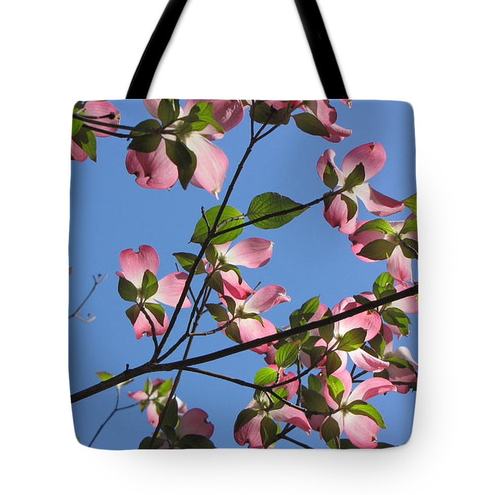 Tree Tote Bag featuring the photograph Pink Dogwood by Sarah Houser