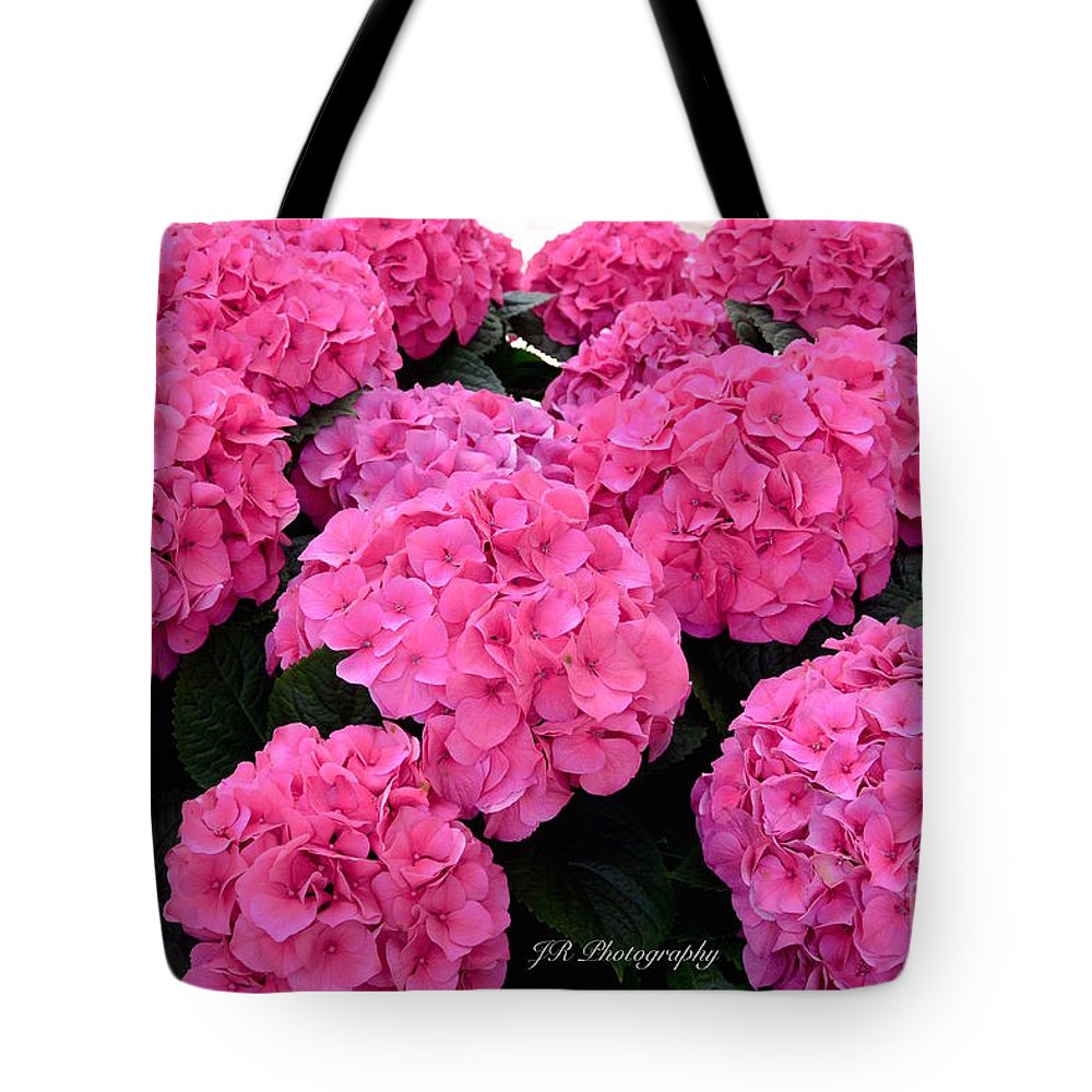 Bloom Tote Bag featuring the photograph Pink Hydrangeas by Jeannie Rhode