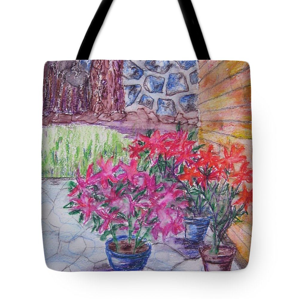 Poinsettias Tote Bag featuring the painting Poinsettias - Gifted by Judith Espinoza