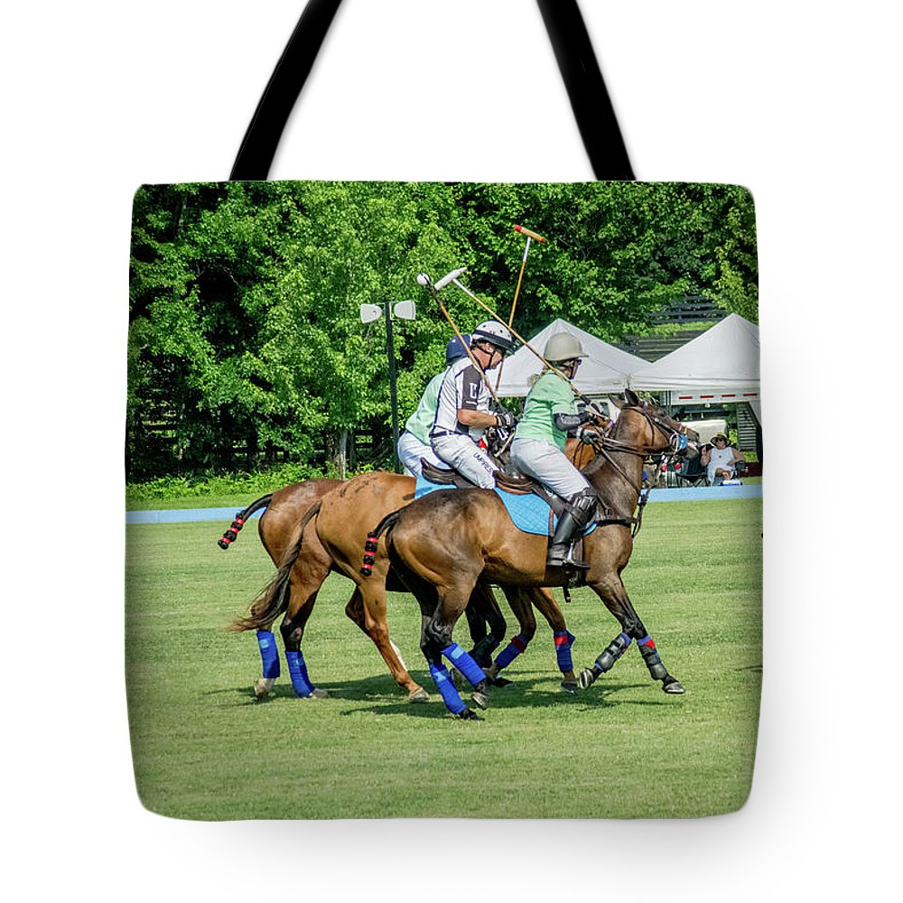 Banbury Cross Tote Bag featuring the photograph Polo Group 2 by Sarah M Taylor