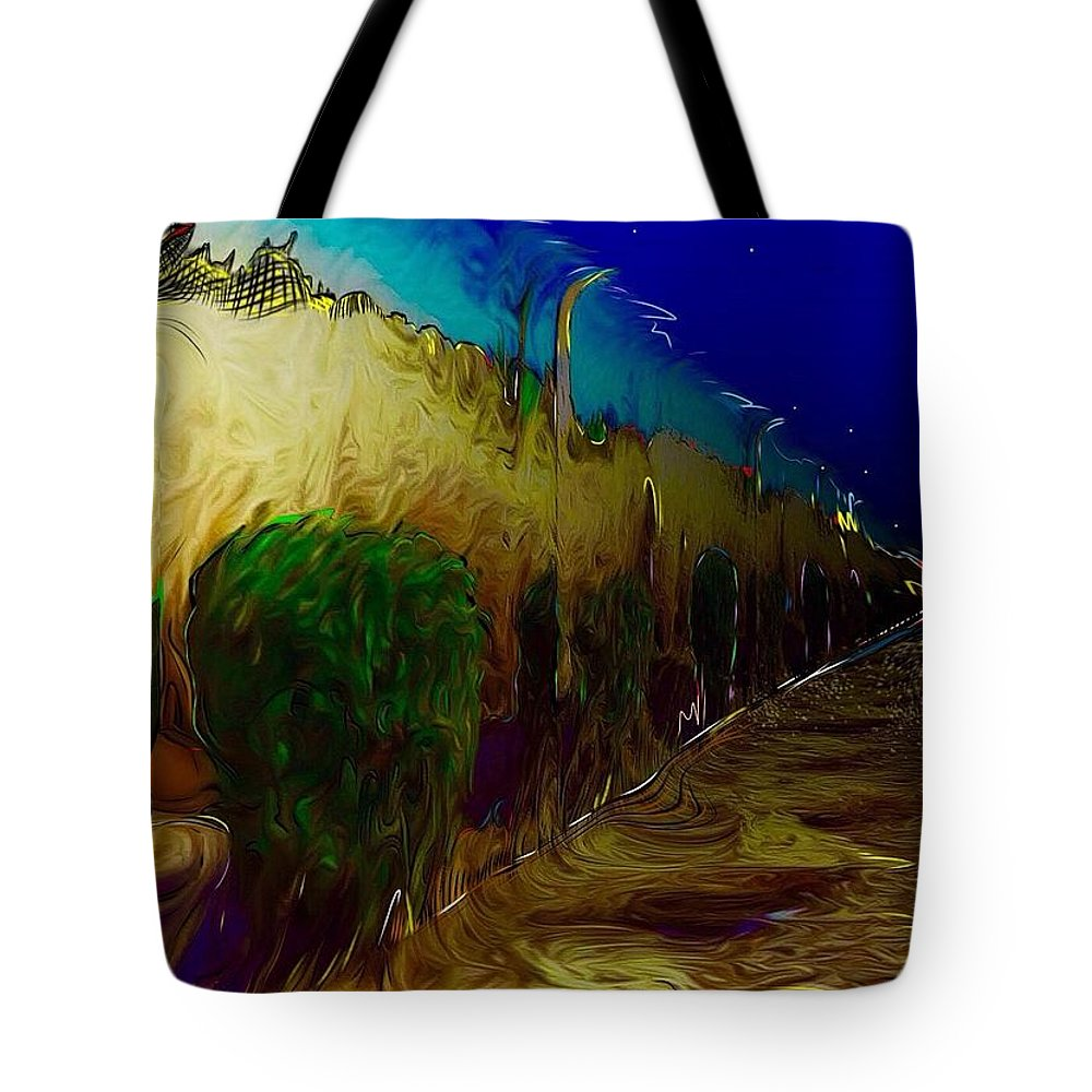 Pompeii Tote Bag featuring the digital art Pompeii by Jack Monninger
