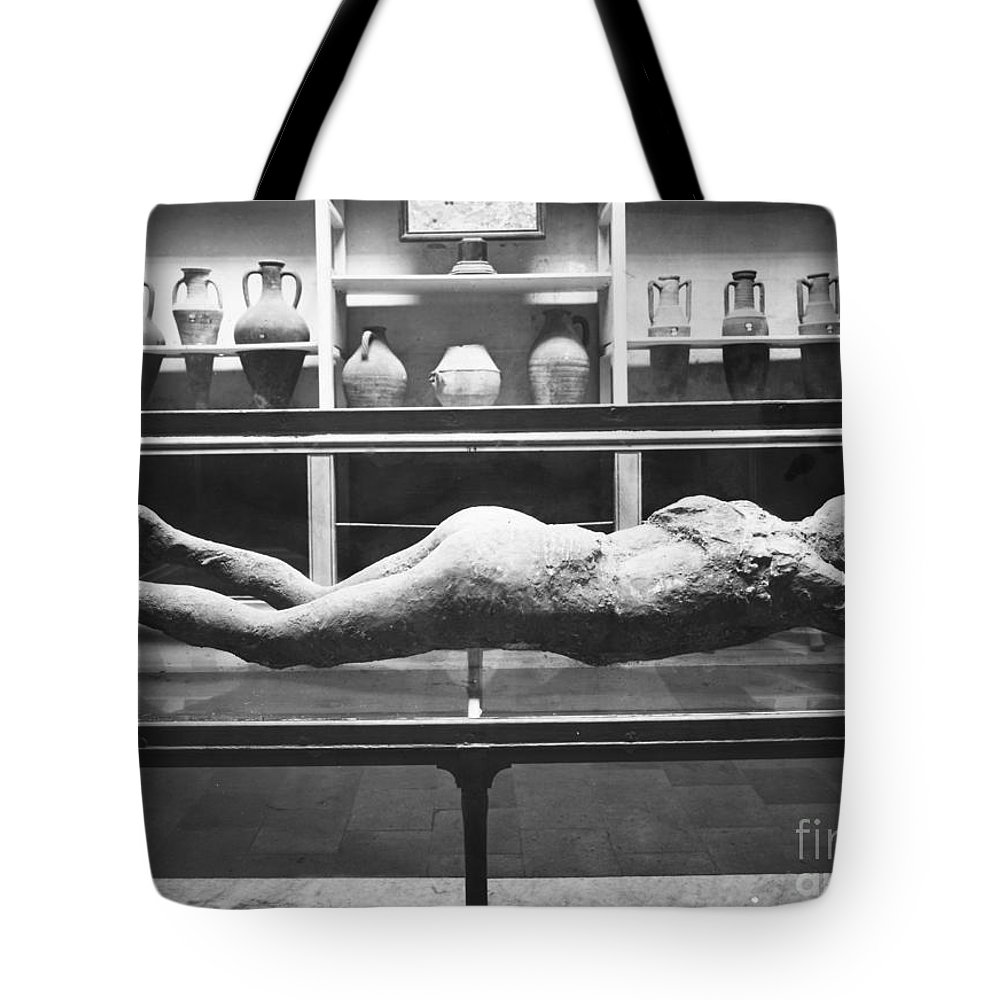 1873 Tote Bag featuring the photograph Pompeii: Plaster Cast by Granger