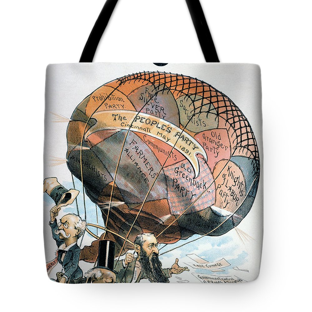1891 Tote Bag featuring the photograph Populist Party Cartoon by Granger