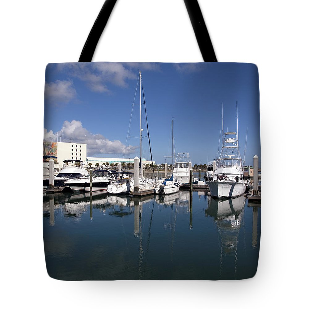 Florida Tote Bag featuring the photograph Port Canaveral Florida Usa by Allan Hughes