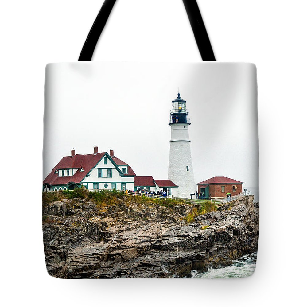 Nature Tote Bag featuring the photograph Portland Head Light by Anna Serebryanik