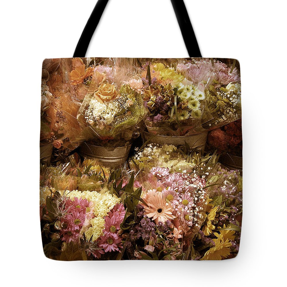 Flowers Tote Bag featuring the photograph Potpourri by Jessica Jenney