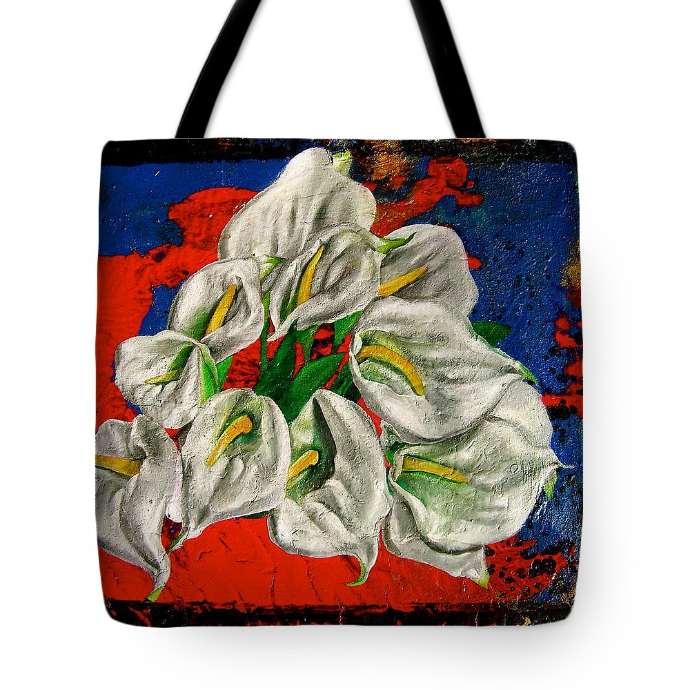 Orchid Painting Tote Bag featuring the painting Preacher In The Pulpit by Laura Pierre-Louis