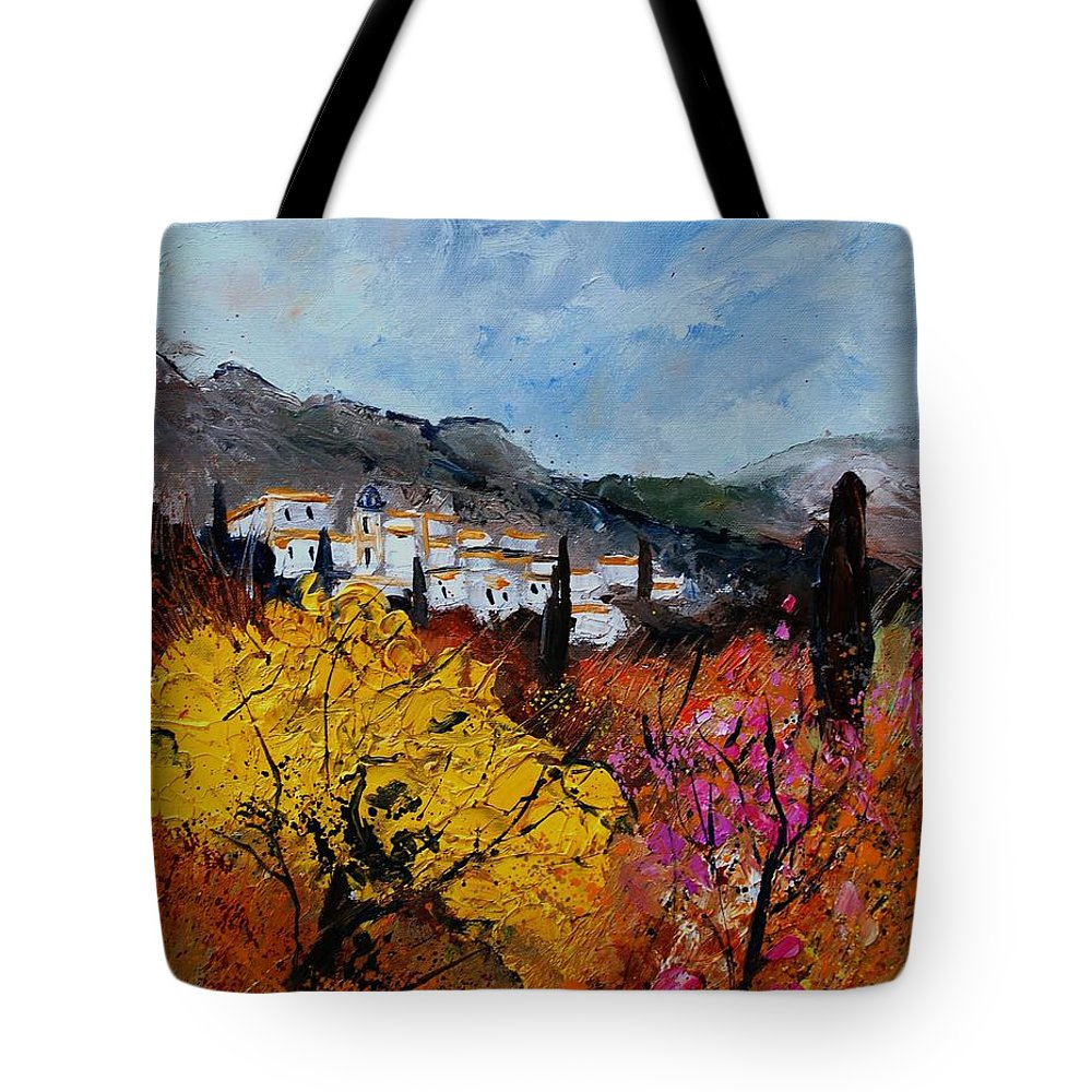 Provence Tote Bag featuring the painting Provence by Pol Ledent