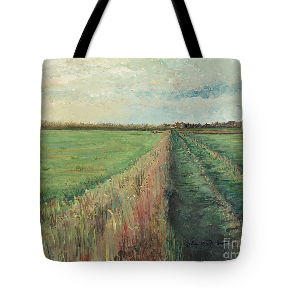 Provence Tote Bag featuring the painting Provence Villa by Nadine Rippelmeyer