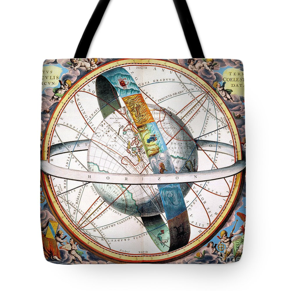 1660 Tote Bag featuring the photograph Ptolemaic Universe, 1660 by Granger
