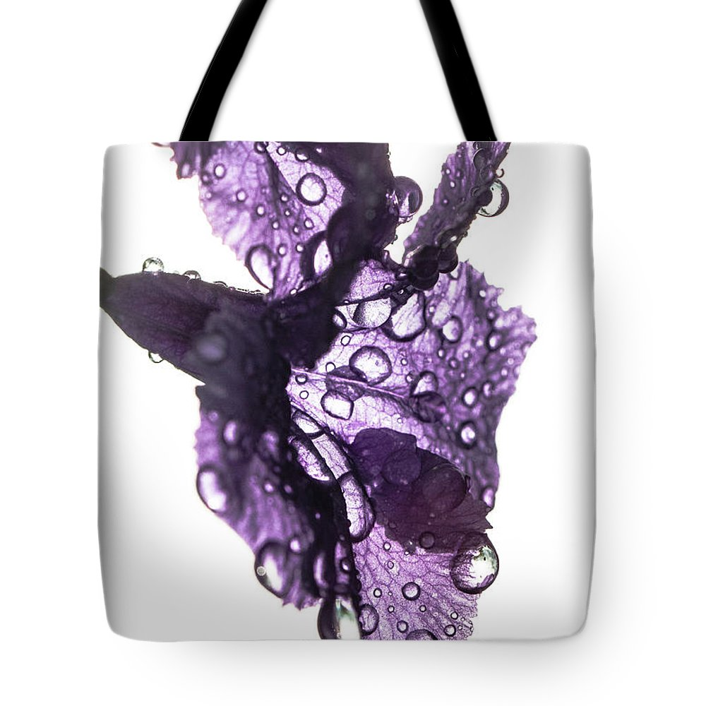 Orchid Tote Bag featuring the photograph Purple Rain by Julian Regan