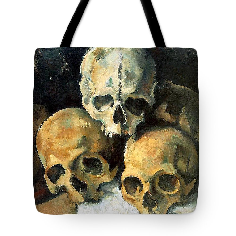 Europe Tote Bag featuring the painting Pyramid Of Skulls by Paul Cezanne