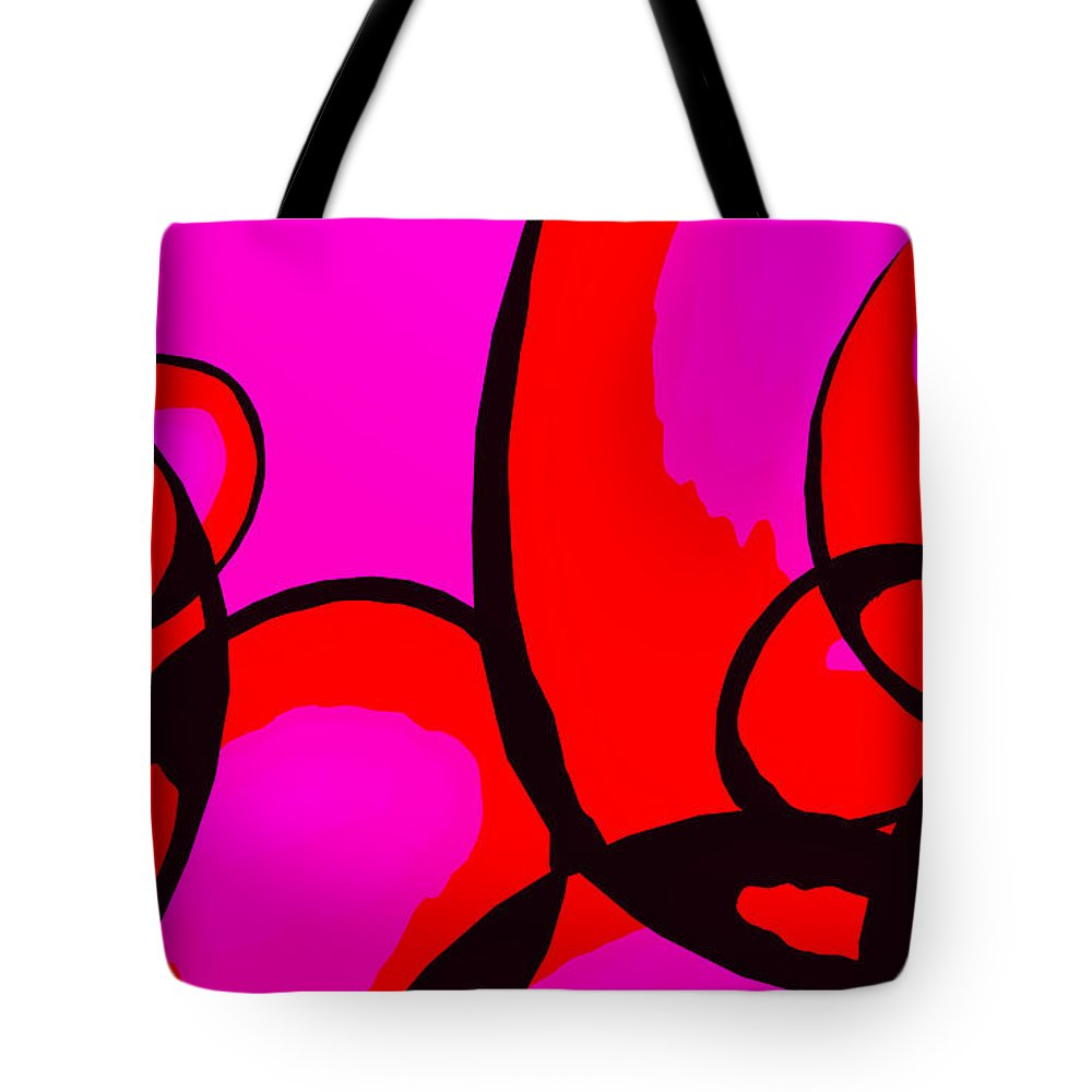 Abstract Tote Bag featuring the digital art Qualia by Richard Rizzo