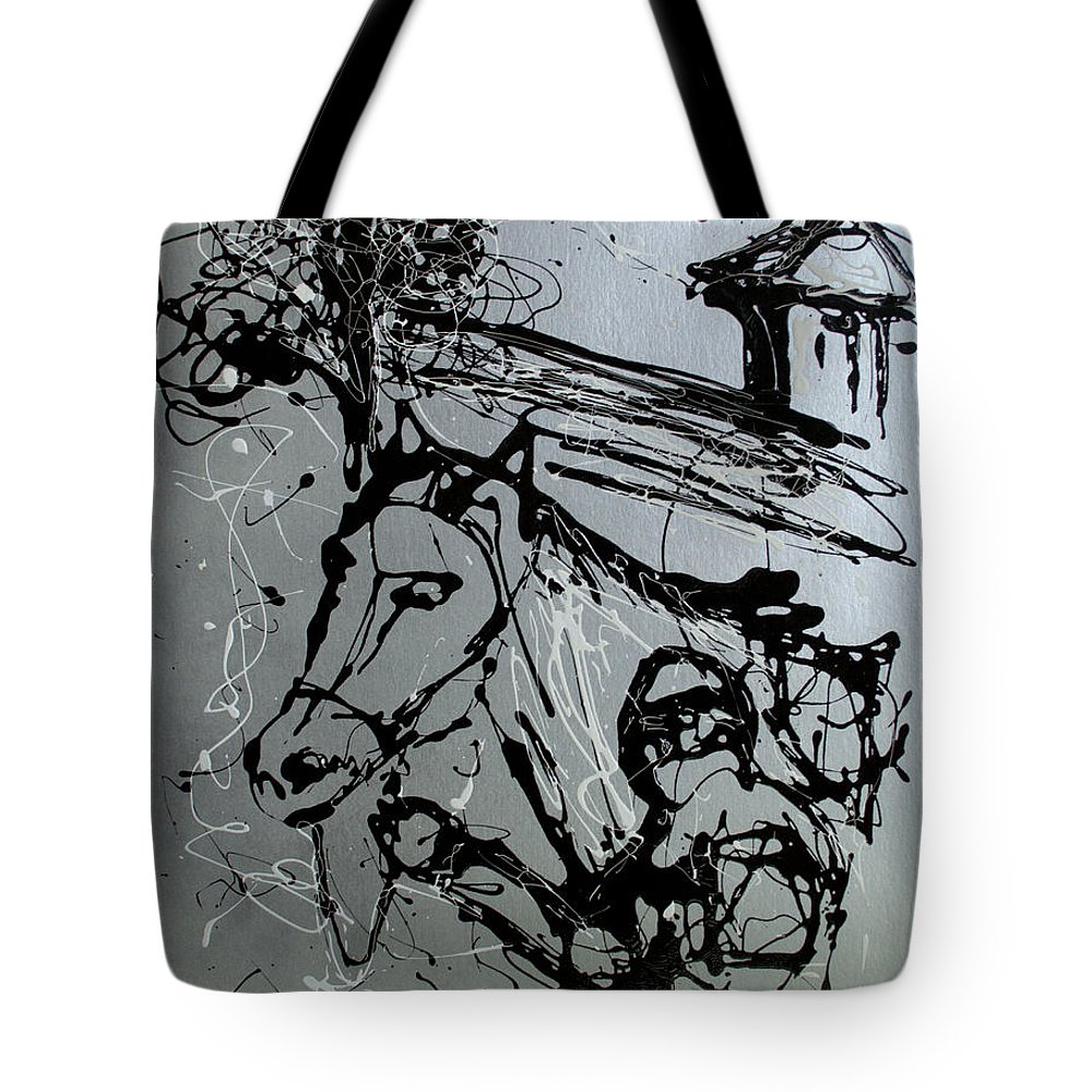 Impressionist Painting Tote Bag featuring the painting Race Day by J R Seymour