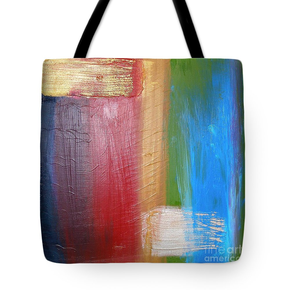 Rainbow Tote Bag featuring the painting Radiance by Maria Bonnier-Perez