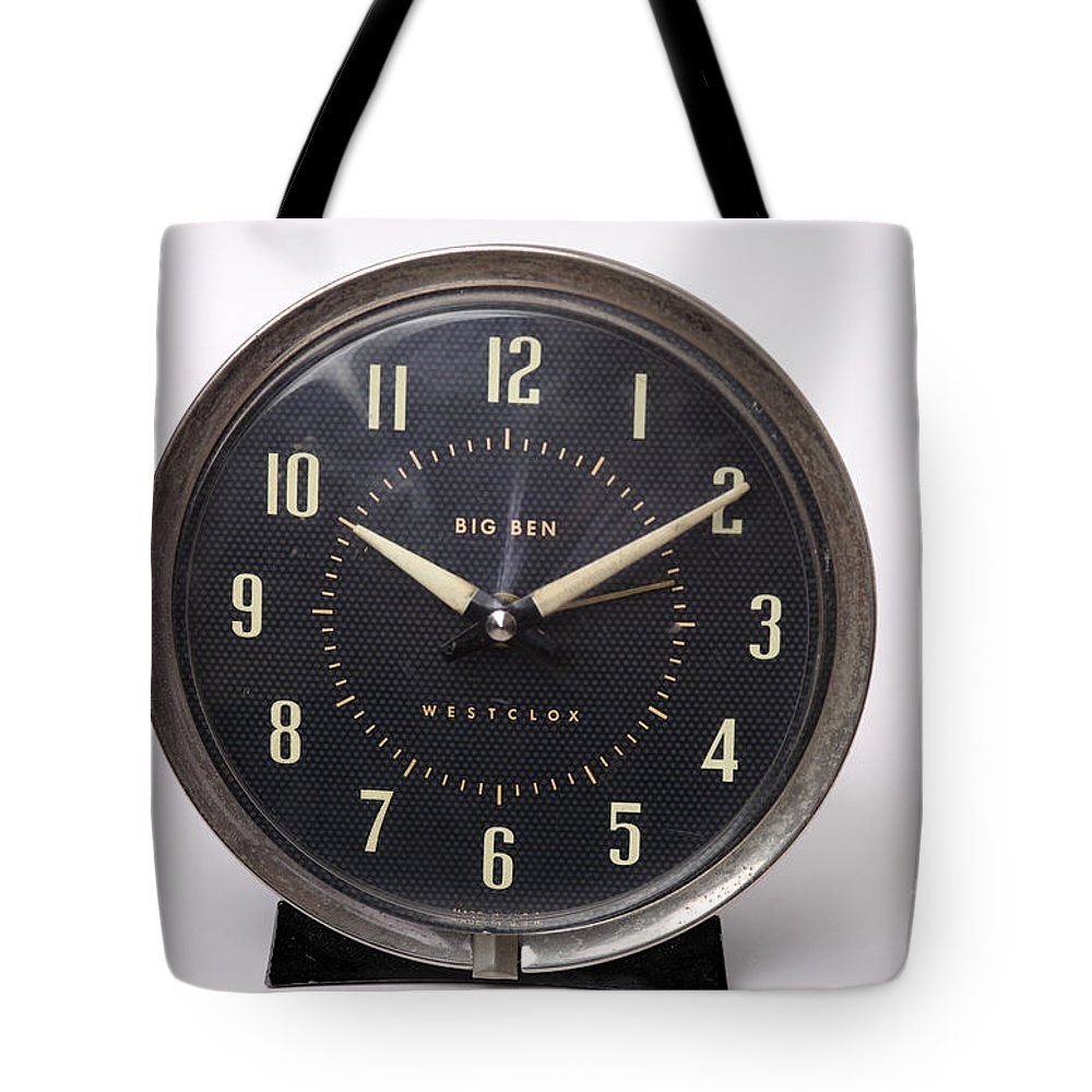 Radium Tote Bag featuring the photograph Radium Dial On Clock by Ted Kinsman