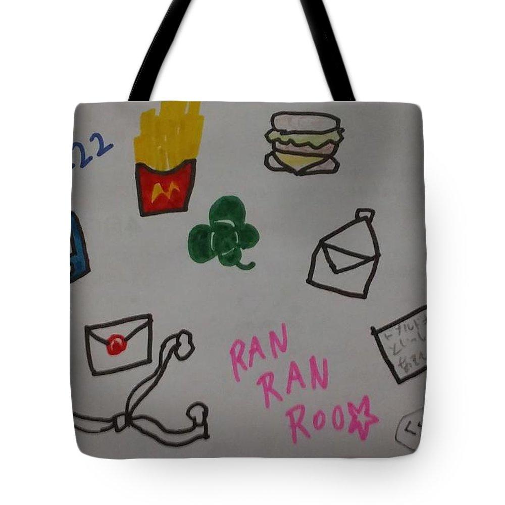 #2222 Tote Bag featuring the drawing Ranranroo by Sari Kurazusi
