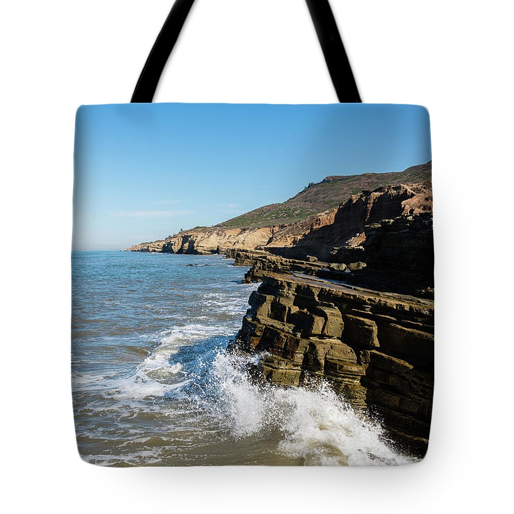 Point Loma Tide Pools Tote Bag featuring the photograph Point Loma Tide Pools Area by Robert VanDerWal