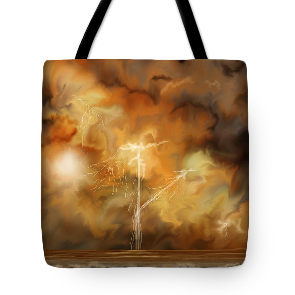 Anne Norskog Tote Bag featuring the painting Raw Power by Anne Norskog