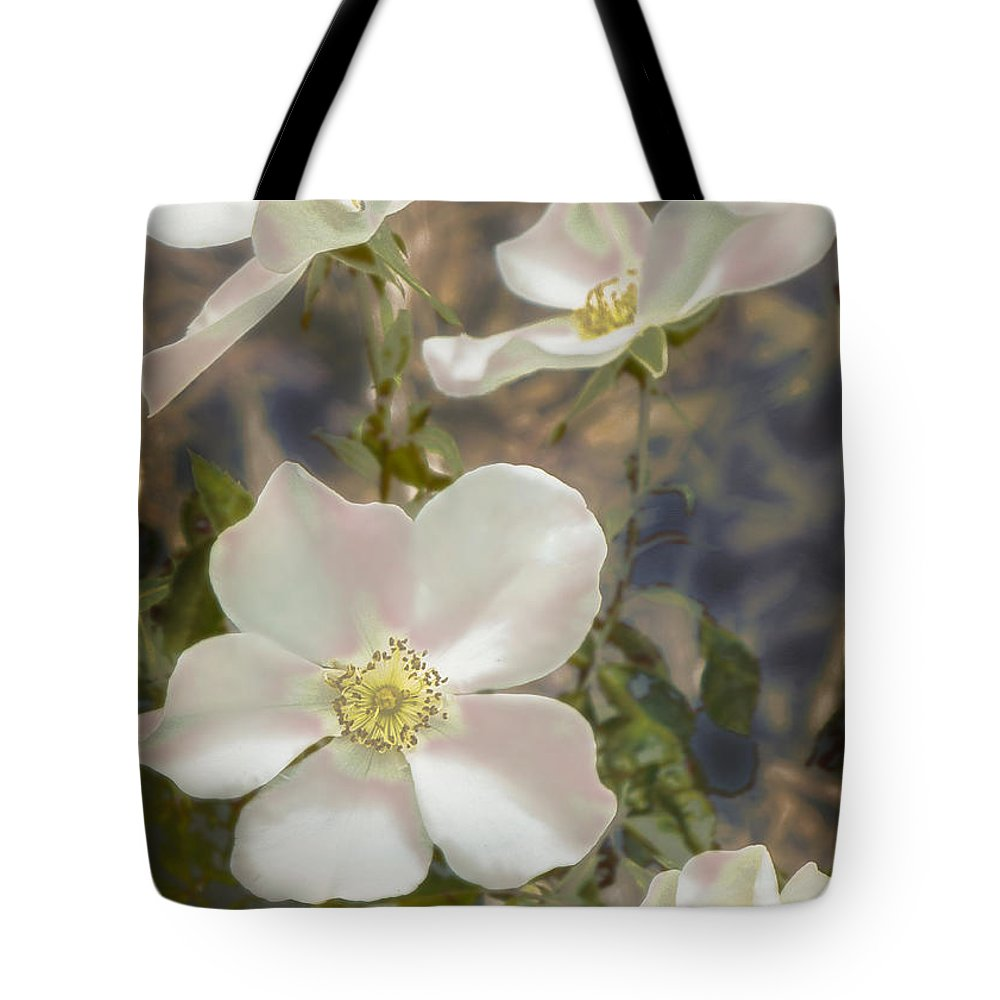 Flowers Tote Bag featuring the photograph Reaching Out by John Anderson