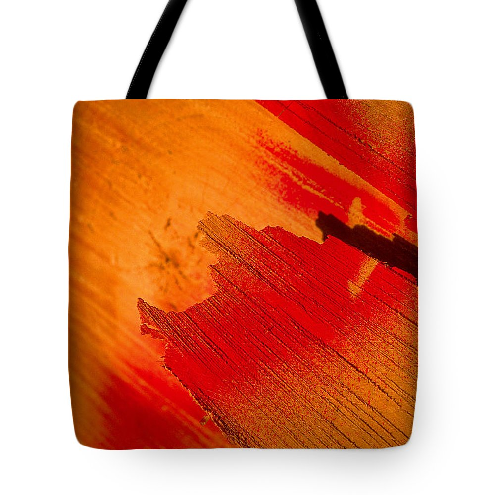 Red Tote Bag featuring the photograph Red Alert by Michael Mogensen