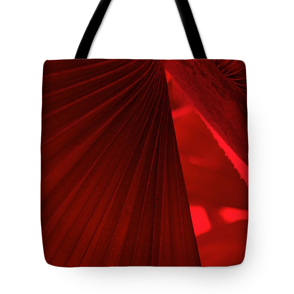 Palm Trees Tote Bag featuring the photograph Red As Blood by Susanne Van Hulst