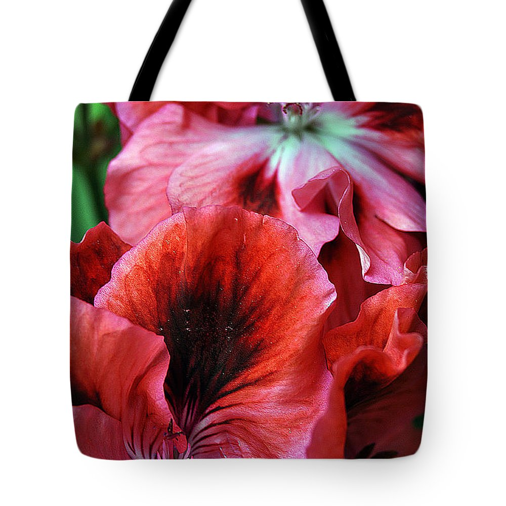 Clay Tote Bag featuring the photograph Red Floral by Clayton Bruster