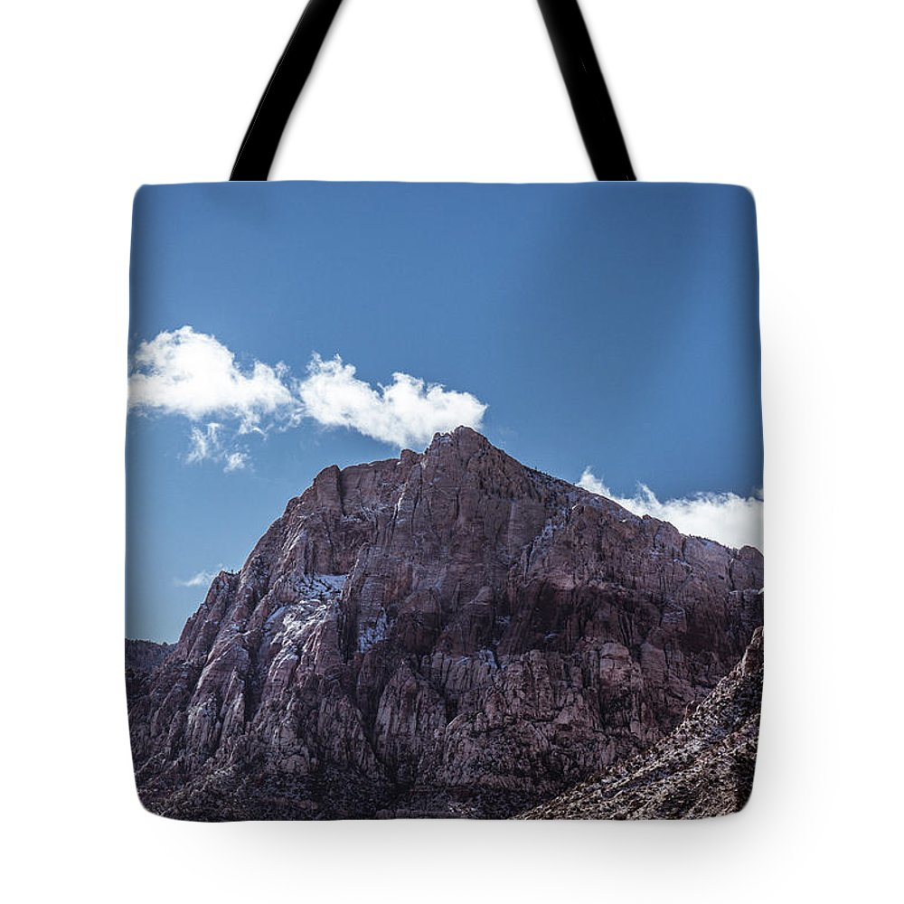 Mountain Tote Bag featuring the photograph Red Rock Canyon by Rockland Filmworks