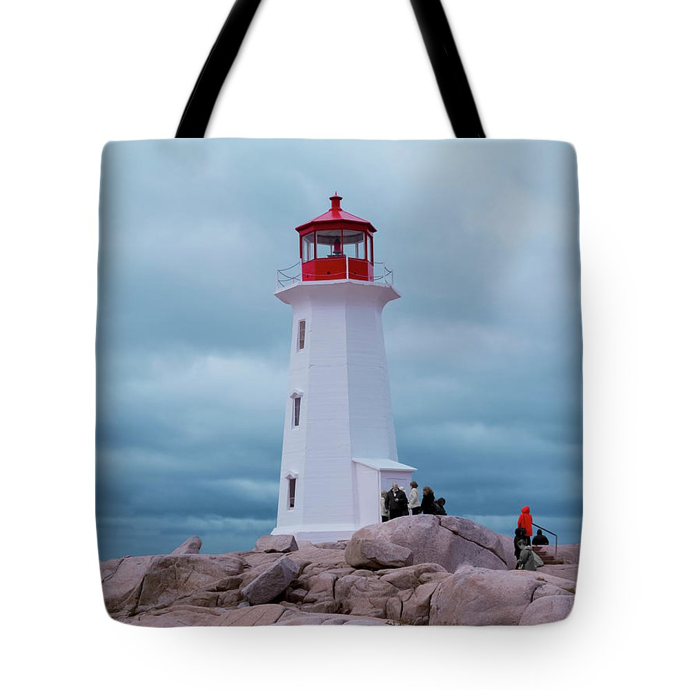 Lighthouse Tote Bag featuring the photograph Red White And Blue by Betsy Knapp