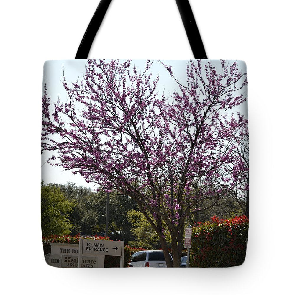 Redbud Tree Prints Tote Bag featuring the photograph Redbud Tree by Ruth Housley