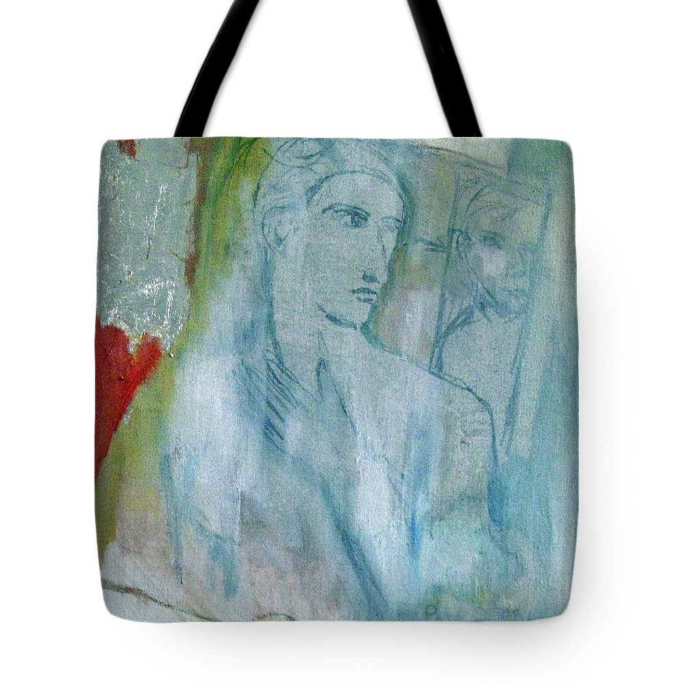 Philosophy Tote Bag featuring the painting Reflecting by James Gallagher