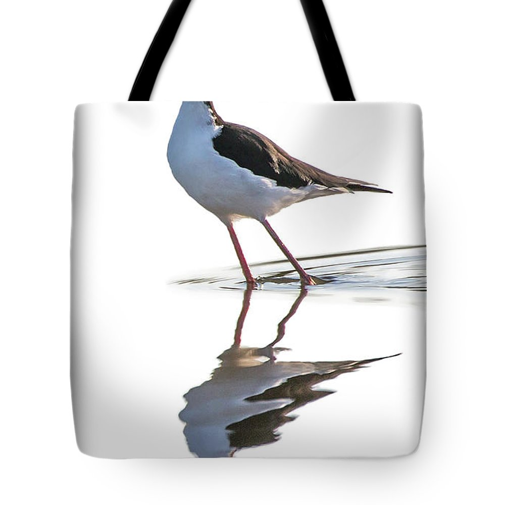 Black-necked-stilt Tote Bag featuring the photograph Reflections by Bruce Bonnett
